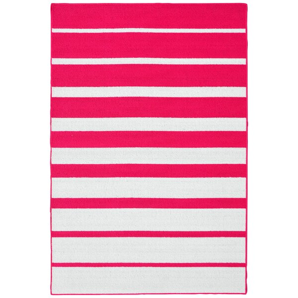 Stair Steps Pink/White Area Rug by Garland Rug