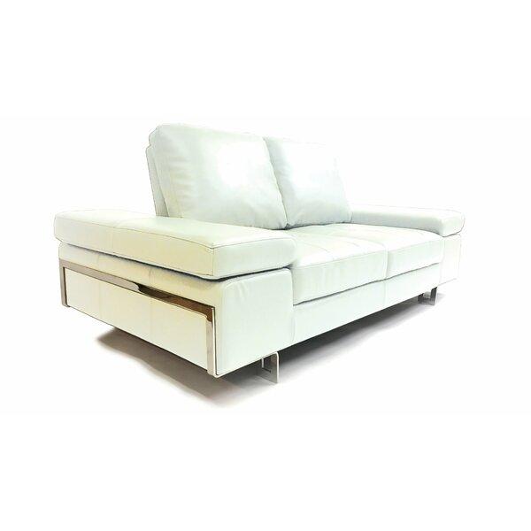 Brand New Goddard Leather Sofa by Orren Ellis by Orren Ellis