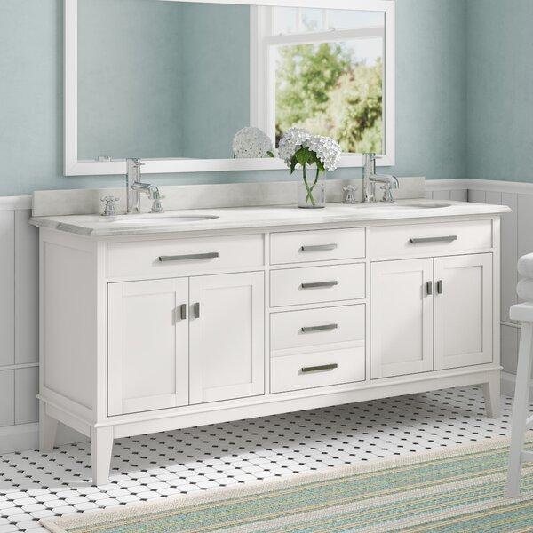 Milton 72 Double Bathroom Vanity Set
