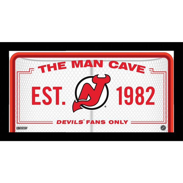 Man Cave Sign Framed Textual Art by Steiner Sports