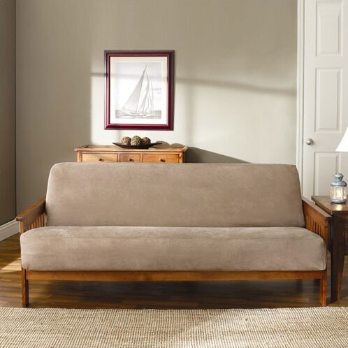 Soft Suede Box Cushion Futon Slipcover By Sure Fit