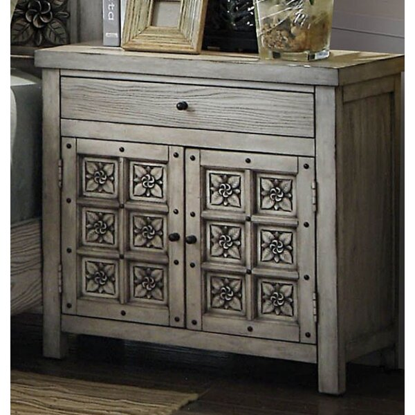 Northwoods 1 Drawer Nightstand by Bungalow Rose