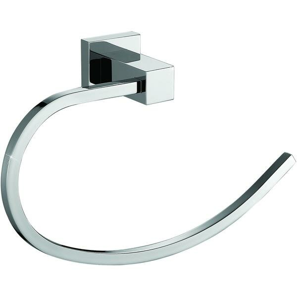 Solis Brass Open Arm Towel Ring by Orren Ellis