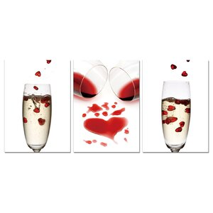 Celebrate Our Love Modern 3 Piece Graphic Art Set by BZB Goods