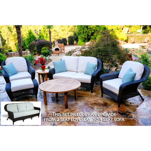 Fleischmann 6 Piece Sofa Set with Cushions by Darby Home Co