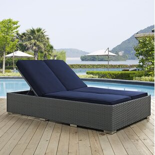 Outdoor Double Chaise Lounge | Wayfair