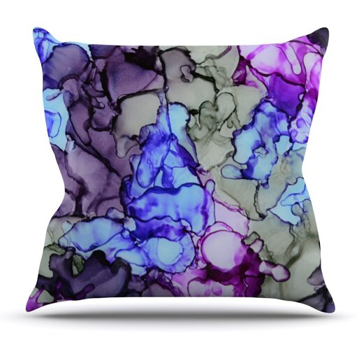 String Theory by Claire Day Outdoor Throw Pillow by East Urban Home