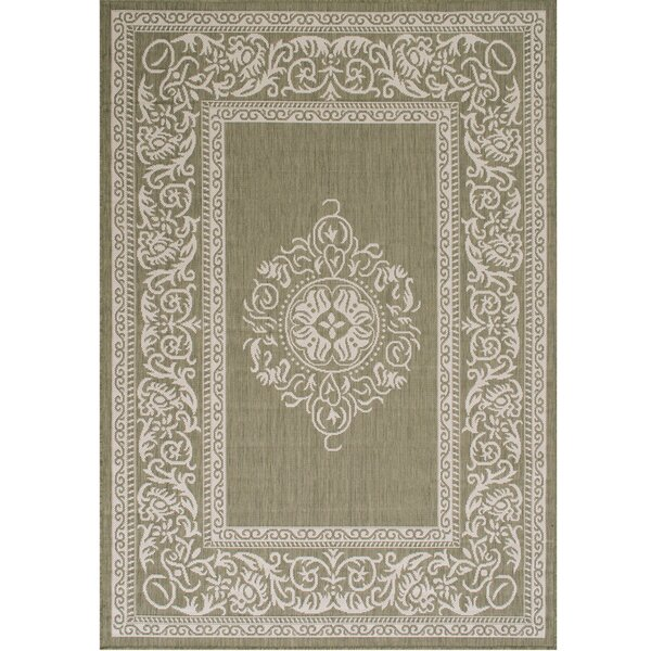 Solomon Green Indoor/Outdoor Area Rug by Winston Porter