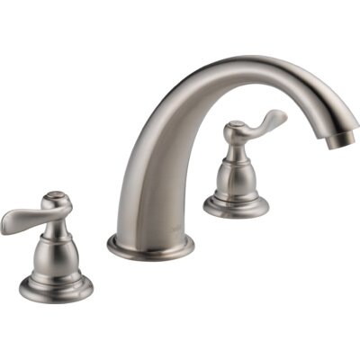Tub Faucet Deck Mount Double Handle Trim Stainless photo
