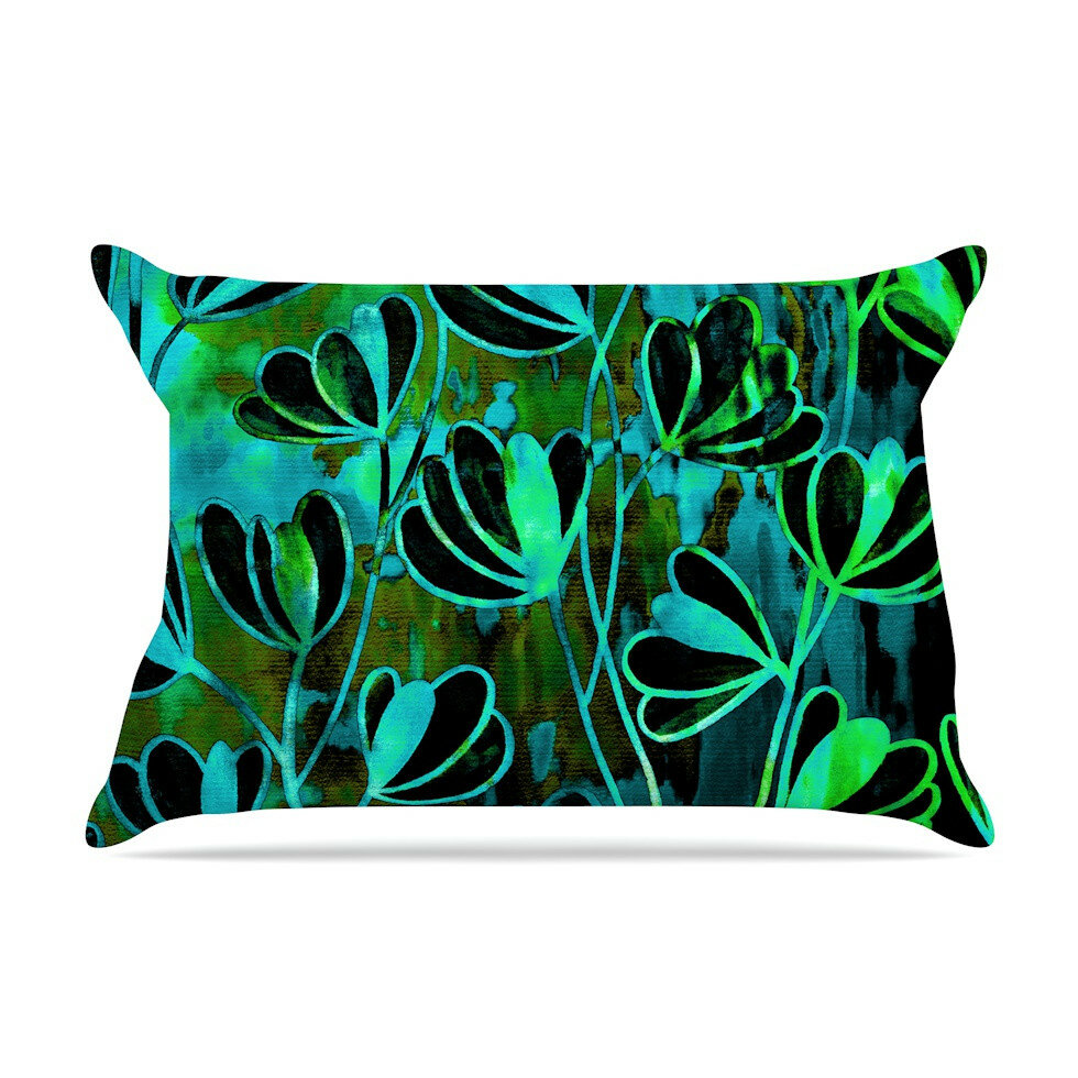 East Urban Home Efflorescence Lime Green by Ebi Emporium Teal ...