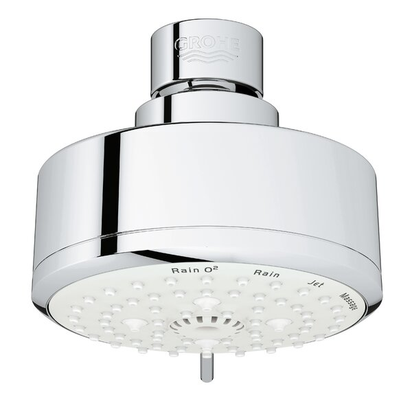 Tempesta Multi Function Adjustable Shower Head with SpeedClean Nozzles by Grohe