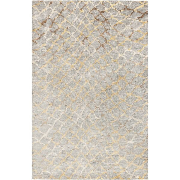 Olinda Hand-Knotted Medium Gray Area Rug by Corrig