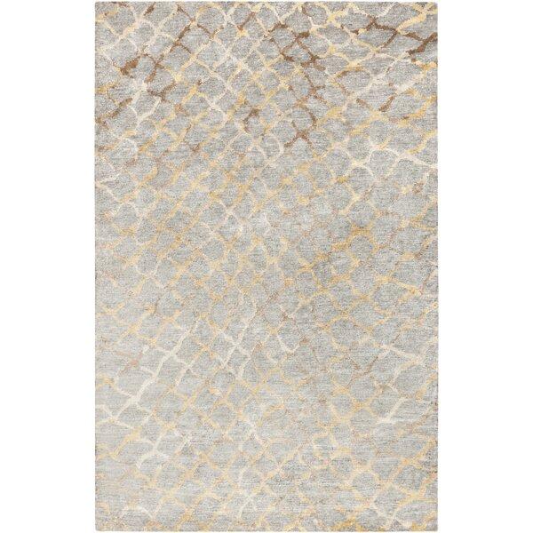 Olinda Hand-Knotted Medium Gray Area Rug by Corrigan Studio