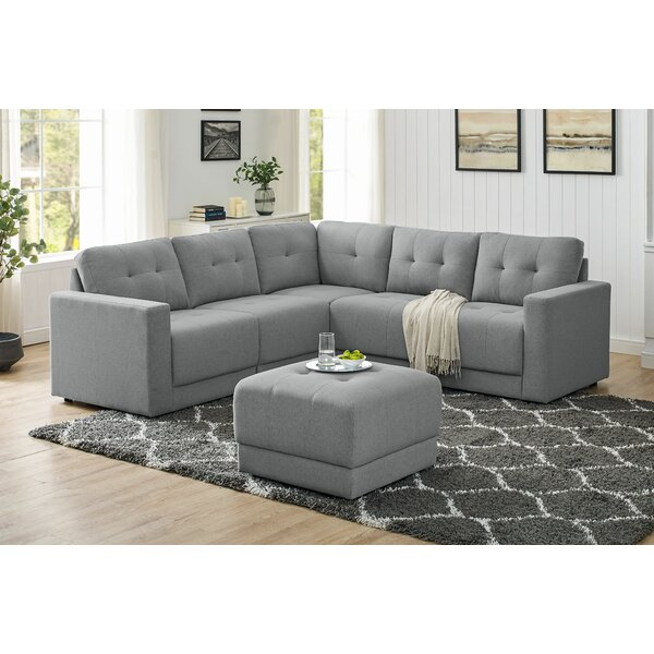 Yinka Modular Sectional with Ottoman by Ebern Designs Ebern Designs
