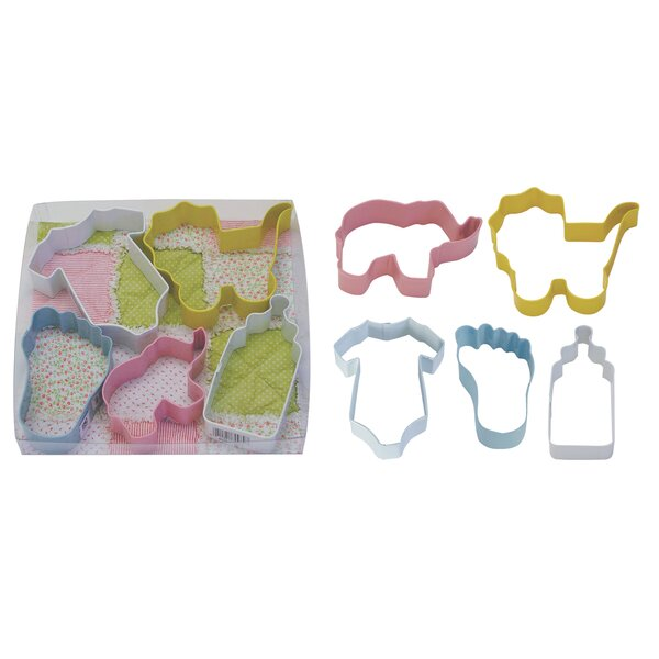 5 Piece Baby Cookie Cutter Set by R & M International Corp.