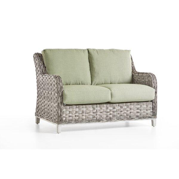 Cape Lookout Loveseat With Cushions by South Sea Rattan