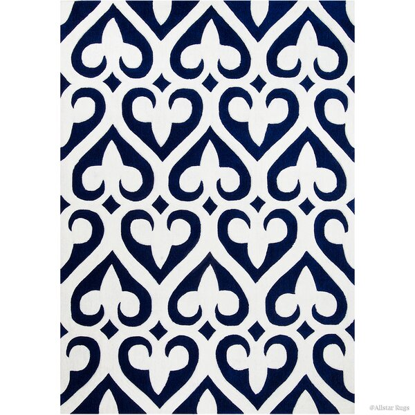 Hand-Tufted Blue Area Rug by AllStar Rugs