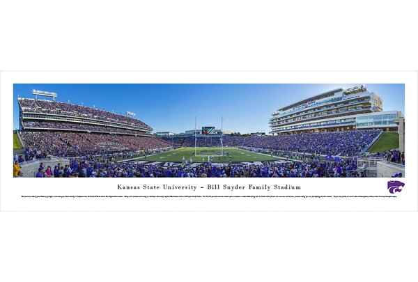 NCAA Kansas State University - Football 50 Yd by James Blakeway Photographic Print by Blakeway Worldwide Panoramas, Inc