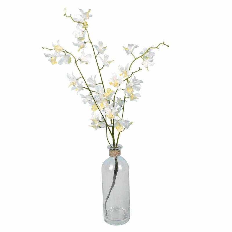 floral home decor orchid floral design wayfair.htm house of hampton orchids floral arrangement in vase   reviews  hampton orchids floral arrangement