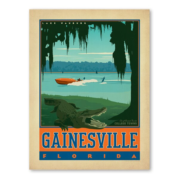 Gainesville Florida Vintage Advertisement by Americanflat