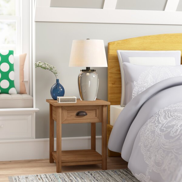 Review Xanthe 1 Drawer Nightstand