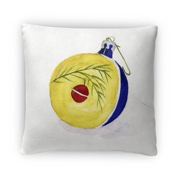 Ornament Square Outdoor Throw Pillow by The Holiday Aisle