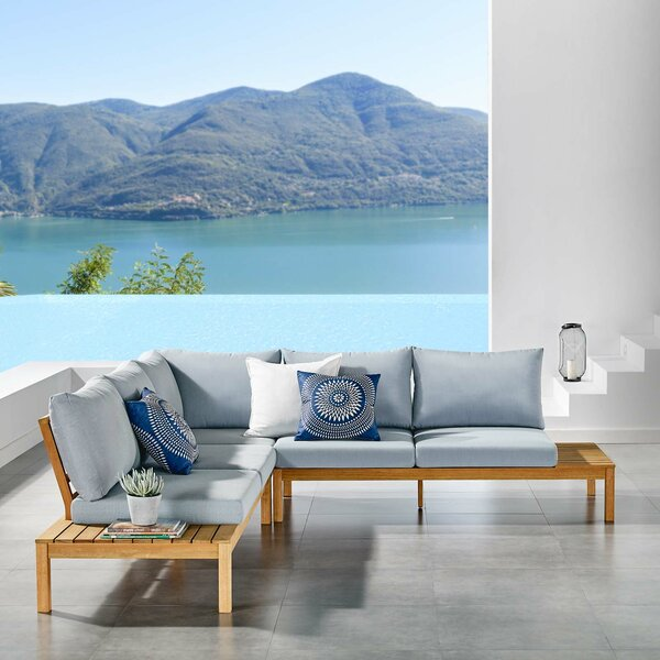 Neneh 3 Piece Sectional Seating Group with Cushions by Brayden Studio