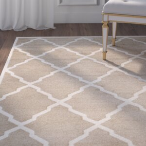 Maritza Trellis Wheat/Beige Indoor/Outdoor Area Rug