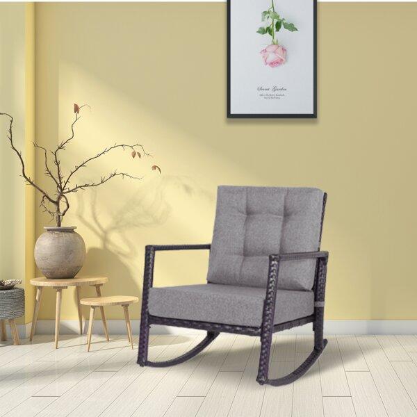Anayjah Rocking Chair with Cushions by Latitude Run