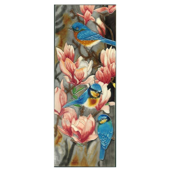 Bluebird with Magnolia Tile Wall Decor by Continental Art Center
