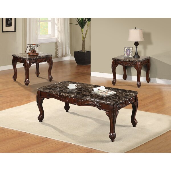 best quality furniture 3 piece coffee table set & reviews   wayfair