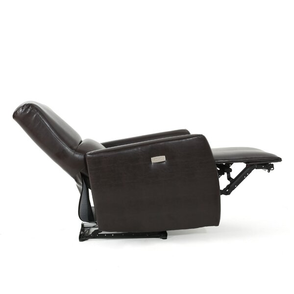 Hyler Upholstered Power Recliner by Latitude Run