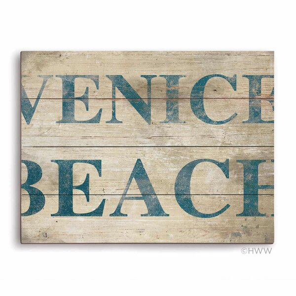 Venice Beach Textual Art Plaque by Click Wall Art