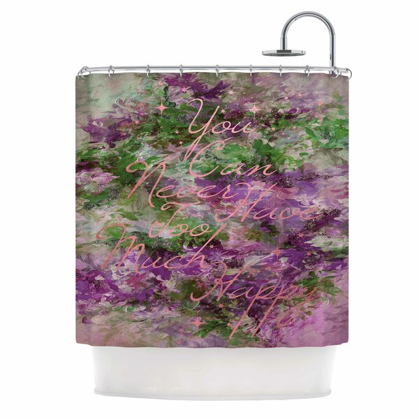 Ebi Emporium Too Much Happy 9 Shower Curtain by East Urban Home