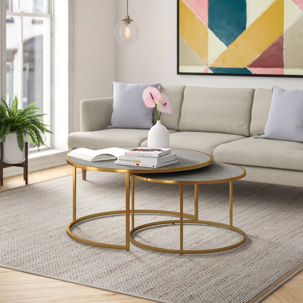 James Frame 2 Nesting Coffee Table Set by Foundstone Foundstone™