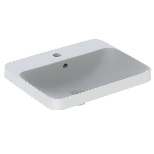 Variform Ceramic Rectangular Drop-in Bathroom Sink with Overflow