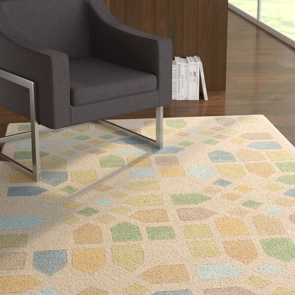 Abrielle Ivory Geometric Area Rug by Latitude Run