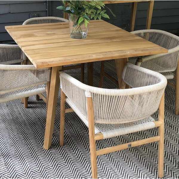 Myers  Solid Wood  Dining Table by Bloomsbury Market