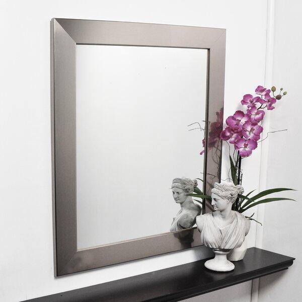 Silver Designer Entry Way Wall Mirror by Brandt Works LLC
