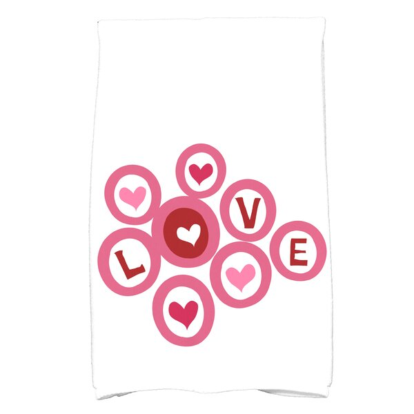 Patterned Pink/White Kitchen Towel by The Holiday Aisle