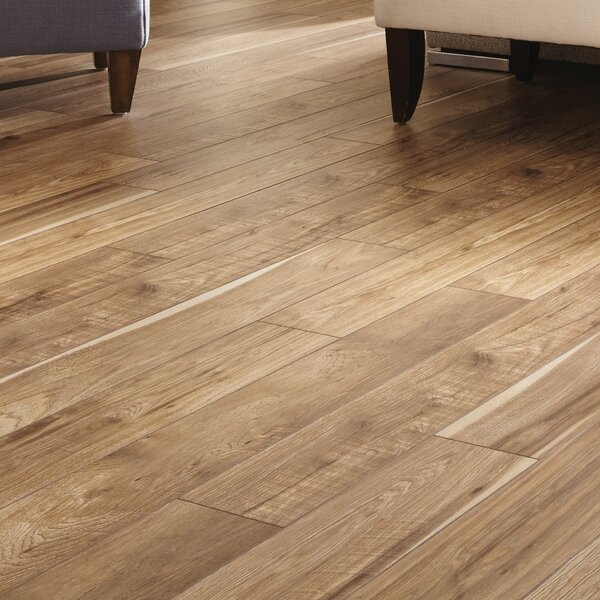 Restoration 6'' x 51'' x 12mm Hickory Laminate Flooring in Natural by Mannington