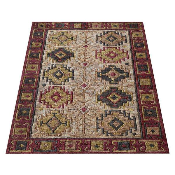 Amira Oriental Hand-Knotted Brown/Beige Indoor/Outdoor Area Rug by Millwood Pines