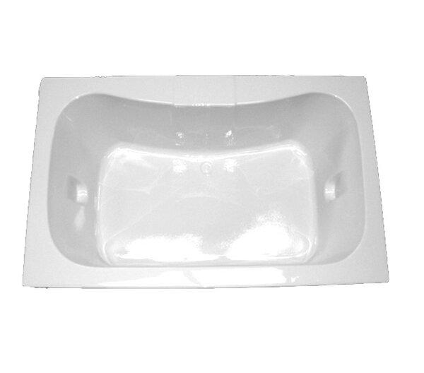 72 x 42 Rectangular Soaking Tub by American Acrylic