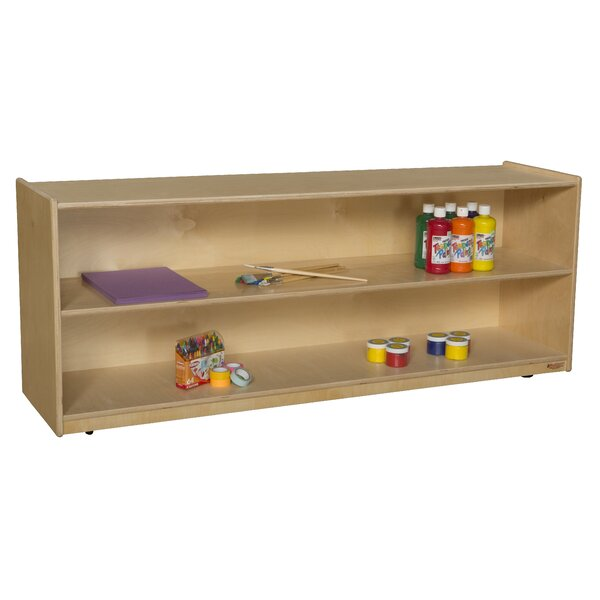 2 Compartment Shelving Unit with Casters by Wood Designs