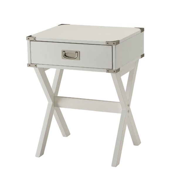 North Brookfield End Table With Storage By Wrought Studio