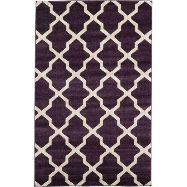 Moore Purple Area Rug by Charlton Home