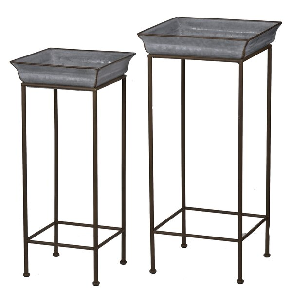 Patchett 2 Piece Iron Stand Planter Box by Gracie Oaks