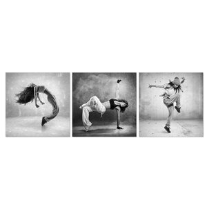 Art of Dance 3 Piece Photographic Print Set by Furinno