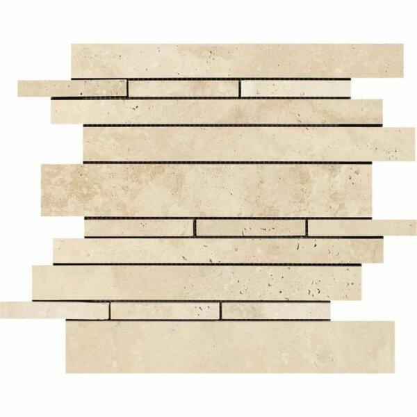 Linear Sized Travertine Linear Mosaic Wall & Floor Tile