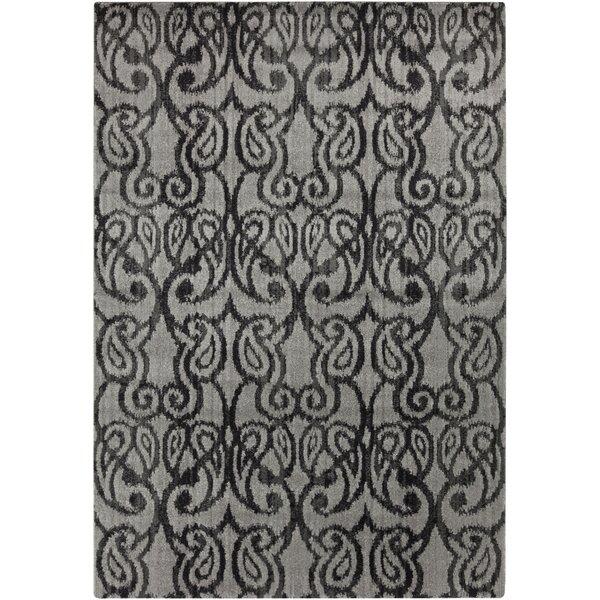 Vivienne Charcoal/Gray Suzani Area Rug by House of Hampton